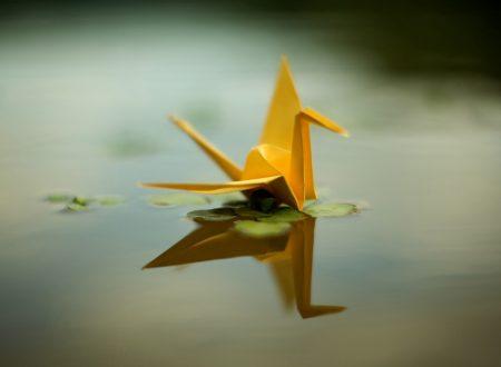 Non castelli di sabbia ma origami di carta crespa